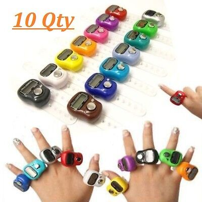 10pcs of Electronic Digital Golf Finger Mini Tally Counter Counting Recorders