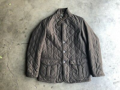 Barbour Quilted Lutz Jacket sz Small Green