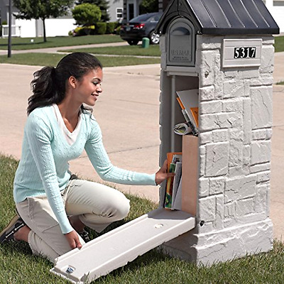 Large Security Mailbox Mail Letter Box Locking Post Stand Secure Storage Postal