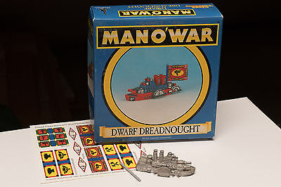 Fantasy Warhammer Man o'War Dwarf Dreadnought Flagship in Original Box Rare OOP