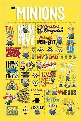 Despicable Me Minions Infographic Poster 61x91.5cm