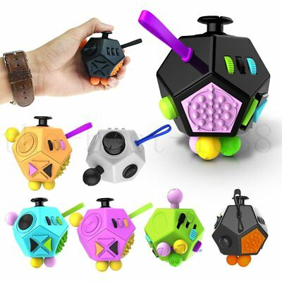12-Side Magic Fidget Anxiety Stress Relief Cube Focus Gift Toys 2nd generation