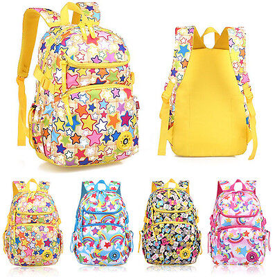 AU Children Colorful School Backpack Kids Primary Middle Student Girls &Boys New