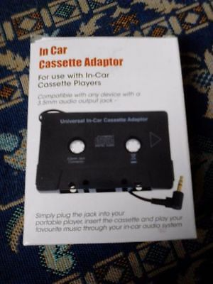 In Car Cassette Adapter for Ipod Nano Mp3 Iphone Bargain ** REDUCED **
