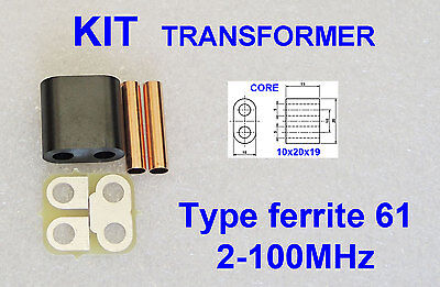 KIT RF Transformer ferrite 61 Amplifier RD16HHF1 2SC2290 IRF510 SC1969 C1969