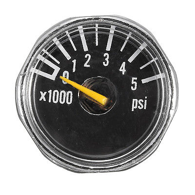 Alloy Micro Paintball Gauge 1'' 5000 psi High Pressure for HPA CO2 Tank PCP