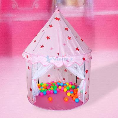 Out/Indoor Portable Pink Fairy Princess Castle Play Tent House Children Kids Toy
