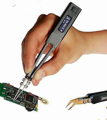 Professional LCR-meter Smart Tweezers ST-5S with Spare Bent Test Leads ESR-meter