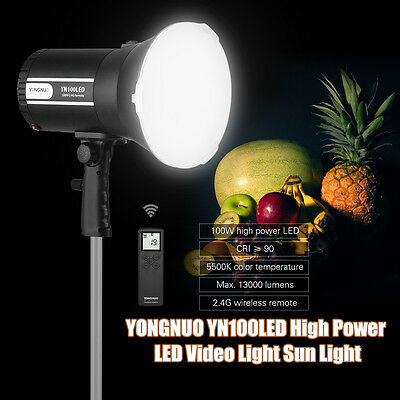 Yongnuo 2.4G Wireless YN100LED Sun Light 100W 5500K for Canon Nikon camera AU