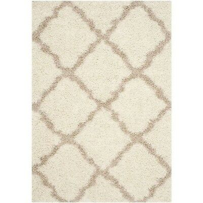 Safavieh Dallas Shag Ivory Rug - 8' X 10' Area Rugs Cream Synthetic