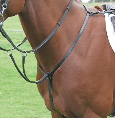Dever Leather Breastplate with Running Martingale Attachment