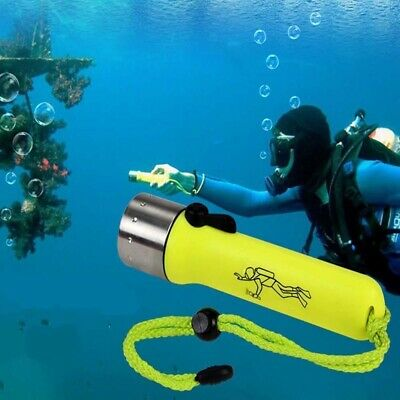 Torcia Subacquea Impermeabile A Led Luce Bianca Waterproof Immersione Mare