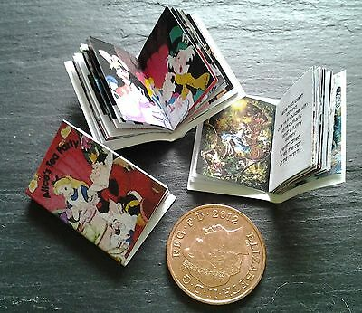dolls house miniature real books ALICE TEA PARTY, quality print,up to 30 pages