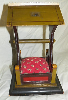 "Victorian Pin Cushion In Form Of A Well ""for Jennie"" 1884"