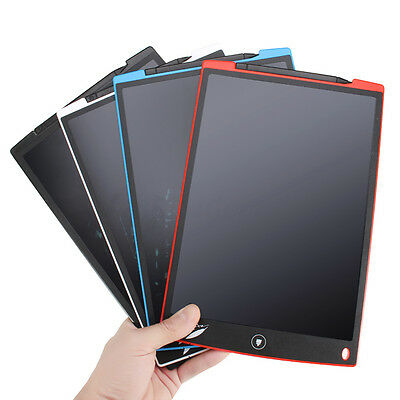 "12"" LCD Writing Tablet Note Pad Paperless Work Teach Doodle Graffiti Draw Board"