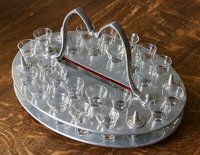 Antique Communion Tray with 24 Glasses / Shots Tray – Arts and Crafts