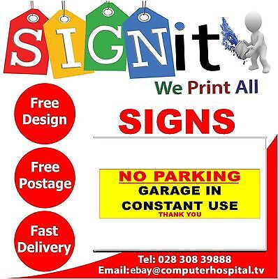 Garage In Constant Use Sticker, Correx Plastic Or Aluminium Sign - NN0023