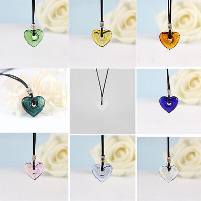 Pretty Beads Bottle Glass Wishing Heart Shape Perfume Pendant Necklace Gift