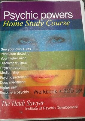 phychic powers home study course Heidi Sawyer 3 cd&book set vgc