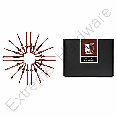 Noctua NA-SAV2 Anti-Vibration Low Noise Fan Mounts for PC Case Fans, 20 pack