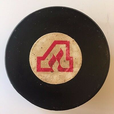 1972 - 1977 NHL Atlanta Flames Converse Rubber Crested Game Puck