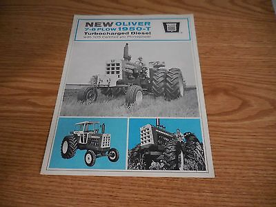 Oliver 1950T Tractor Brochure Literature Advertisement