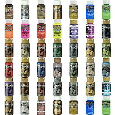 DecoArt Acrylic Paint Dazzling Metallic Neon All Purpose 59ml  2oz - 38 Colours