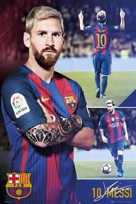 Barcelona FC Messi Collage Poster 61x91.5cm