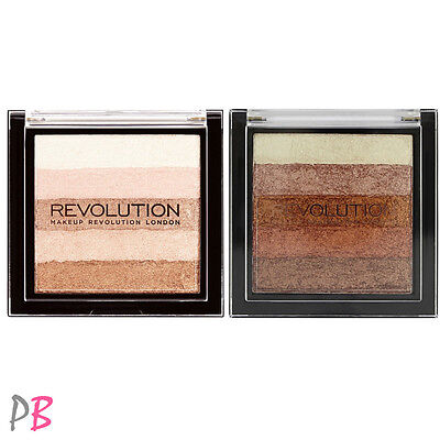 Makeup Revolution VIVID SHIMMER BRICK Radiant or Rose Gold Highlighter