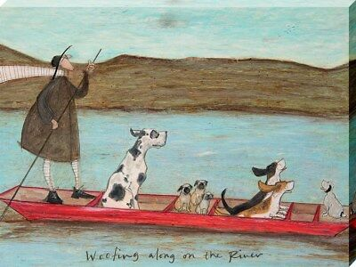 Sam Toft Woofing Along On The River Canvas Print 30x40cm