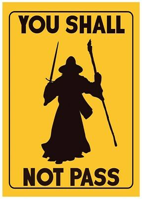 You Shall Not Pass Mini Poster 32x44cm