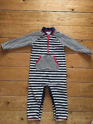 M&S Baby All In One UV Protect Striped Swimsuit 18 Months - 2 Years