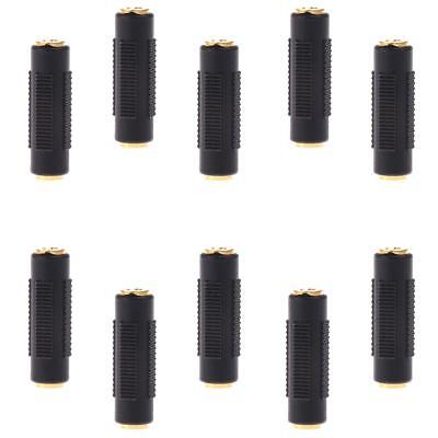 10X Audio Stereo 3.5mm Female to 3.5mm Female Jack Socket Adapter Connector