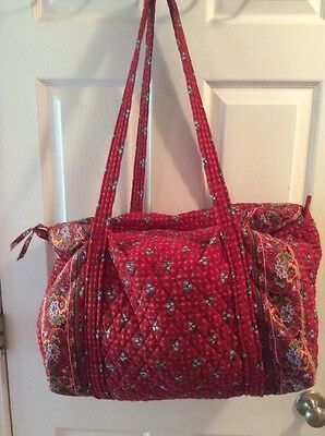 Vera Bradley Large Duffel Bag ~ Provincial Red ~ Free Shipping