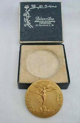 Solid 9 Carat Gold Essex Motor Club 1914 Speed Trials Medal in Original Box.