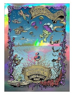 Dead and Company Print Wrigley Field Chicago Poster Grateful FOIL signed