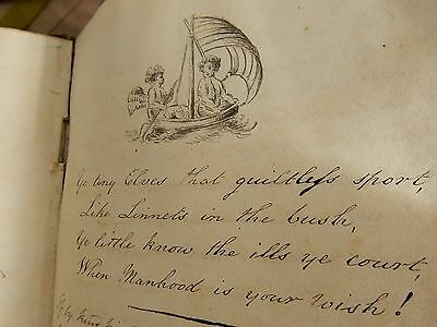 EARLY 1820 ONWARDS COMMON PLACE BOOK / ALBUM  all hand inscribed   1820  - 1830s