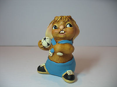 NEW Pendelfin  Chuck  blue Figurine rabbit Bunny w/ Box