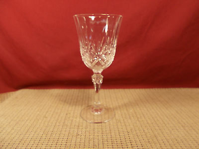 """Cristal d'Arques Crystal Danube Pattern Water Goblet 7 1/2"""""""