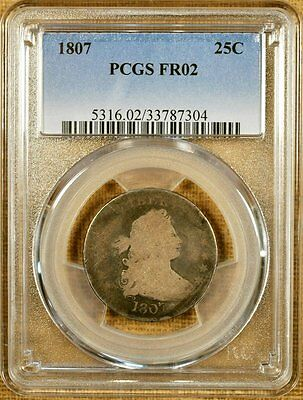 1807 B-1 PCGS FR02 Draped Bust Quarter