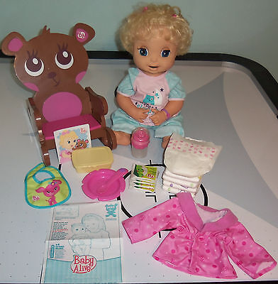 2006 BABY ALIVE REAL SURPRISES BABY Comes w/ All Accessories & Rocking Chair