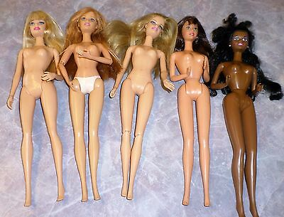 Lot Barbie Dolls Mattel Fashionista Jointed OAAK Vintage Modern Ethnic Brunette