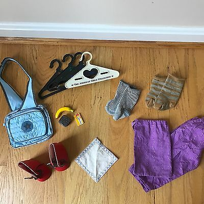 American Girl Doll Lot of Accessories, Miscellaneous items: Shoes, Hangers, Food