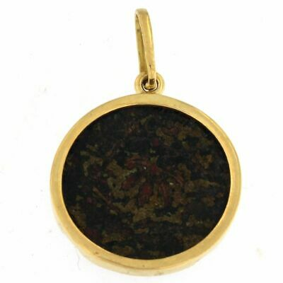Charm with Bronze Ancient Roman Coin 18kt Yellow Gold
