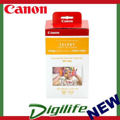 "Canon RP108 Ink and Paper Pack Postcard 6x4"" CP910 CP820 CP1000 CP1200 CP1300"