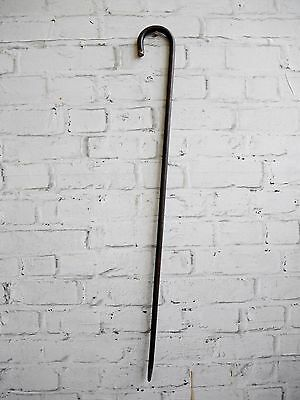 Unusual Rare Vintage Antique Leather Bound Possible Malacca Walking Stick Cane