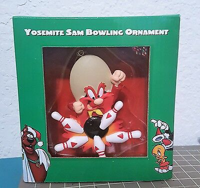 Warner Bros. Studio Store - Looney Tunes Yosemite Sam Bowling Ornament ,1998 NIB