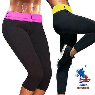 a074305af2 Women Hot Thermo Sweat Neoprene Body Shaper Pants Slimming Waist Trousers  UK AM