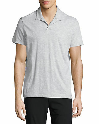 a4c2be046 3507-2 Theory Mens Slub Grey Regular Fit Willem Soft Polo Shirt Sz 2XL XXL
