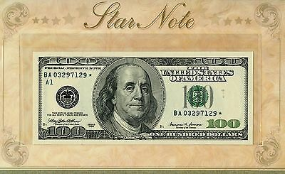 Uncirculated Series 1999 $100 U.S. Federal Reserve Star Note JE399